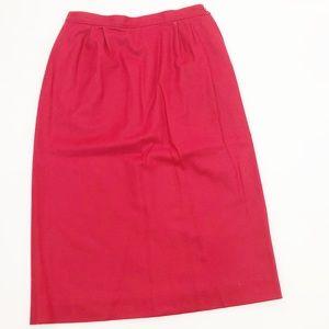 Pendleton Vintage Red Wool Skirt Size 12